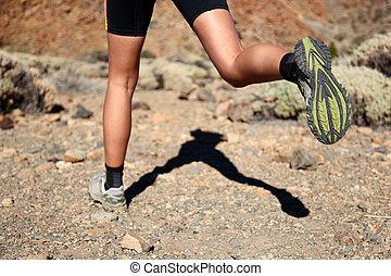 rennende , spoor