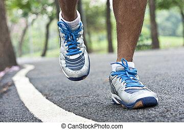 rennende , sport schoenen