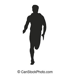 rennende , vector, silhouette, man