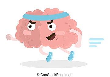 rennender , brain., freigestellt