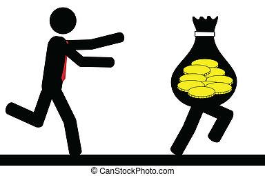 rennender , geld