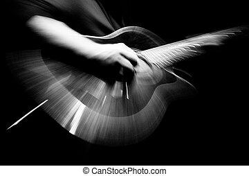 rennender , gitarre