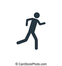 rennender , ikone, mann