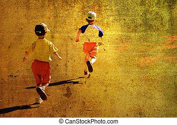 rennender , kinder