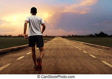 rennender , mann