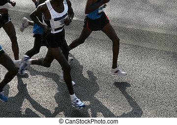 rennender , marathon