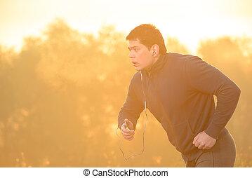 rennender , morgen