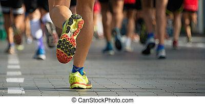 rennender , rennen, marathon