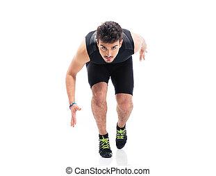 rennender , sport, mann