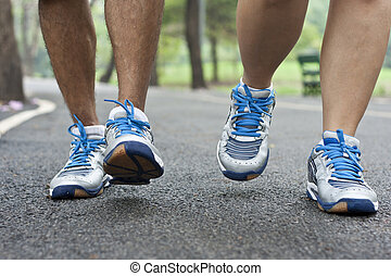 rennender , sport schuhe
