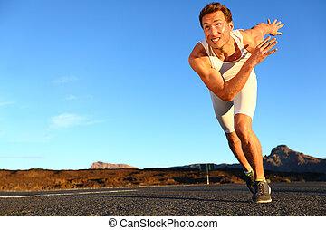 rennender , sprinten, mann