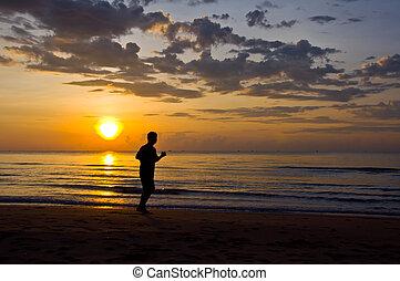 rennender , strand