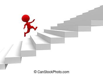 rennender , treppe