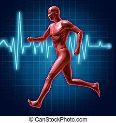 rennender , und, fitness