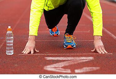 rennender , und, jogging