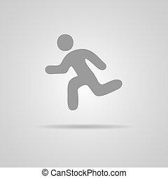 rennender , vektor, abbildung