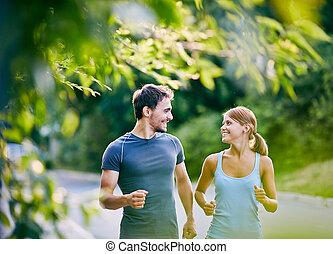 rennender , zusammen