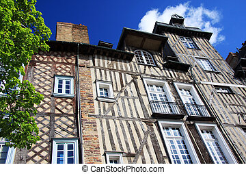 Rennes, historic buildings - The historic half timbered ...
