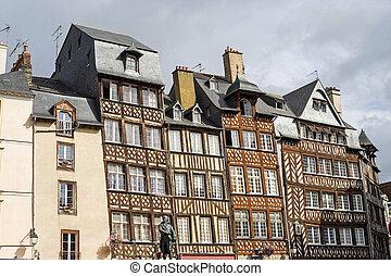 Rennes (Ille-et-Vilaine, Brittany, France) - Exterior of...
