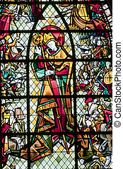 Rennes, stained glass window - Rennes (Ille-et-Vilaine,...