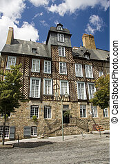 Rennes timbered buildings - The historic half timbered...
