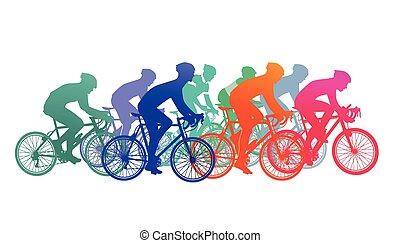 Rennrad fahren.eps