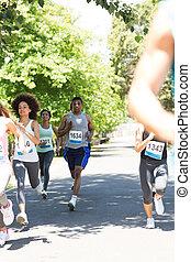 rennsport, läufer, marathon