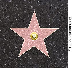 renommée, promenade, étoile