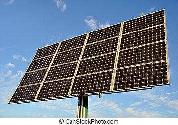 renouvelable, énergie solaire, panneau, énergie