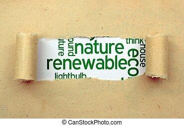 renouvelable, nature