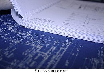 renovação, blueprint