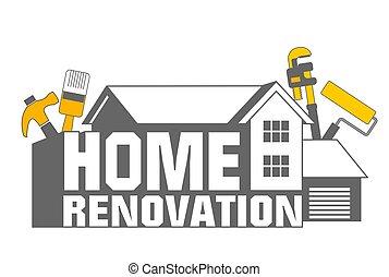 renovação lar, ícone