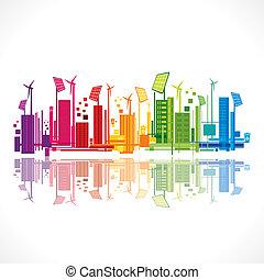 renovable, colorido, concepto, energía