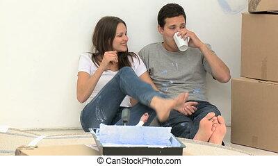 renovat, café, boire, quoique, homme