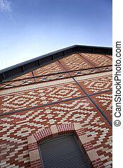 Renovated brick building - Facade of an old brick building...