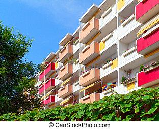 Renovated building blocks.