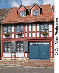 Renovated half-timbered house