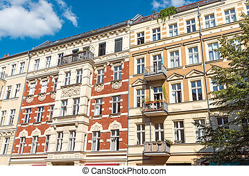 Renovated old dwelling houses in Berlin