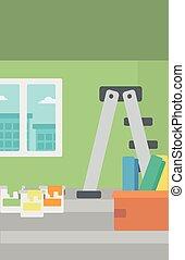 renovation., hogar, plano de fondo