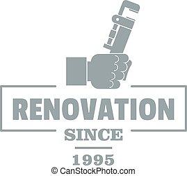 Renovation logo, vintage style