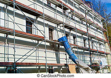 renovation of a residential building - a house is being...