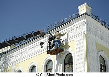 Renovation of house facade