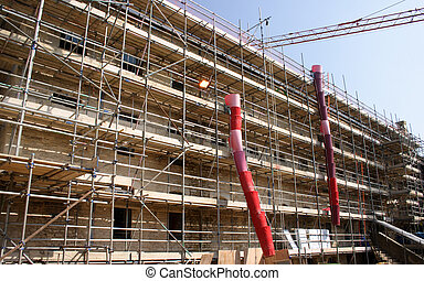 renovation project - industrial construction site where...
