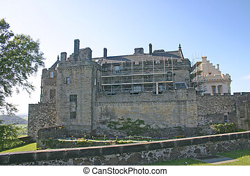Renovations at Stirling Castle in Scotland