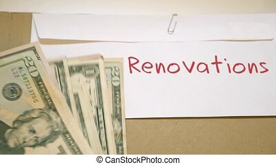 Renovations costs concept