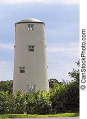 renoviert, altes , windmühle