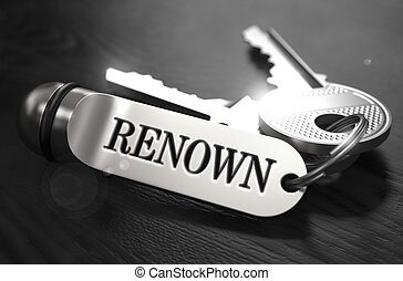Renown Concept. Keys with Keyring.