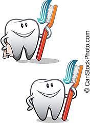 rense, tænder
