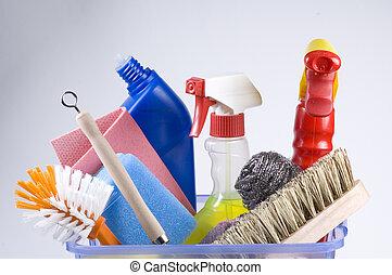 rensning, dagligen