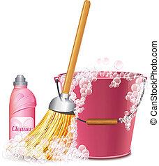 rensning, ikon